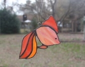 Stained Glass Goldfish Suncatcher