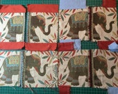 SALE Elephant Fabric Scraps for Crafting