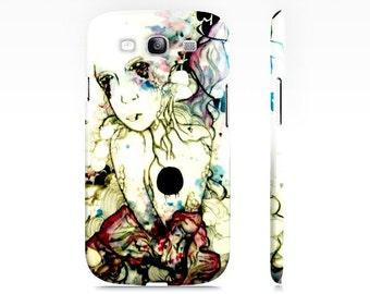 Samsung Galaxy S3 Case - Cell Phone case - Cell Phone cover - Art Phone case - Watercolor art - Portrait art - purple phone case