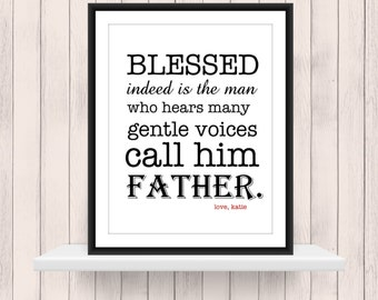 Custom Gift for your Father print - Father's Day Gift - Gift for Dad
