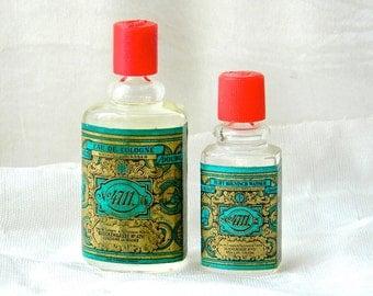 2 Vintage No 4711 Cologne Glockengasse Kolnisch Wasser Full 1/4 oz Mini Splash, 1/8 oz Mini Splash