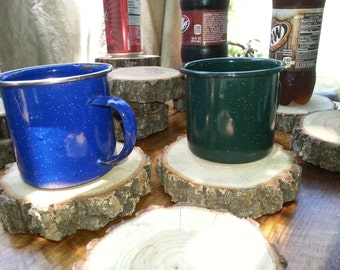 Rustic wood coasters