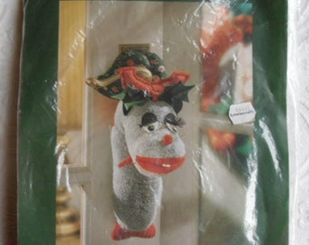 Christmas Craft Kit - Silverbirch Designs 9202 - Daniel Door Moose Ornament - Christmas Door Ornament Kit