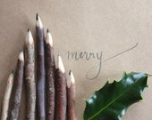 Handmade Twig Pencil - Rustic Wooden Pencil - Made in Australia