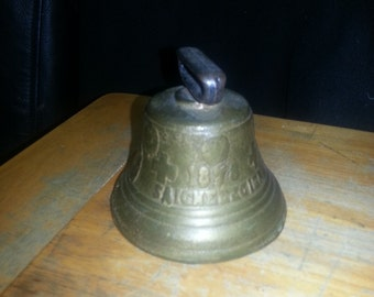 Old Brass or Iron Bell Marked 1898 - French Religious Order