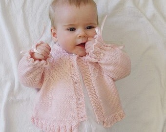 Baby girl jacket with detailed bodice P025