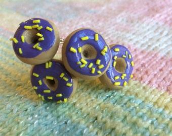 Purple Donut Ring- Handmade