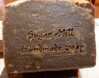 Sugar Hill Pine Tar Hot Process Soap with Tussa silk