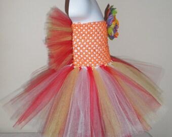 Custom Basic Children's Back Frilled Tutu Dress Made to order