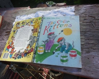 The Color Kittens Little Golden Book 1994,Vintage Golden Book,Vintage Children's Book, Vintage Book:)s