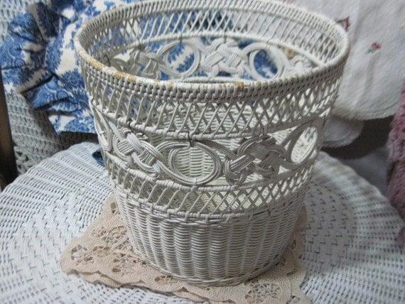 pretty shabby cottage waste basket