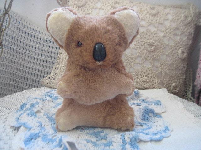 Aussie Koala Bear Real Fur Koala Bear Vint 60's