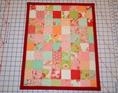 Red Patchwork Doll Quilt- for Susan