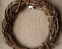 """Grapevine Wreath Wreaths 15"""" Floral Wedding Twig Handmade Primitive Natural Rustic Craft Supply Made in Michigan by colonialcrafts on Etsy"""