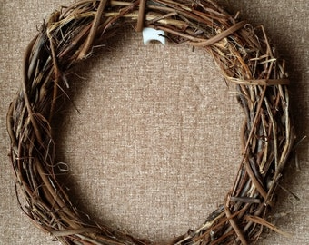 """Grapevine Wreath Wreaths 14"""" Floral Wedding Twig Handmade Primitive Natural Rustic Craft Supply Made in Michigan by colonialcrafts on Etsy"""