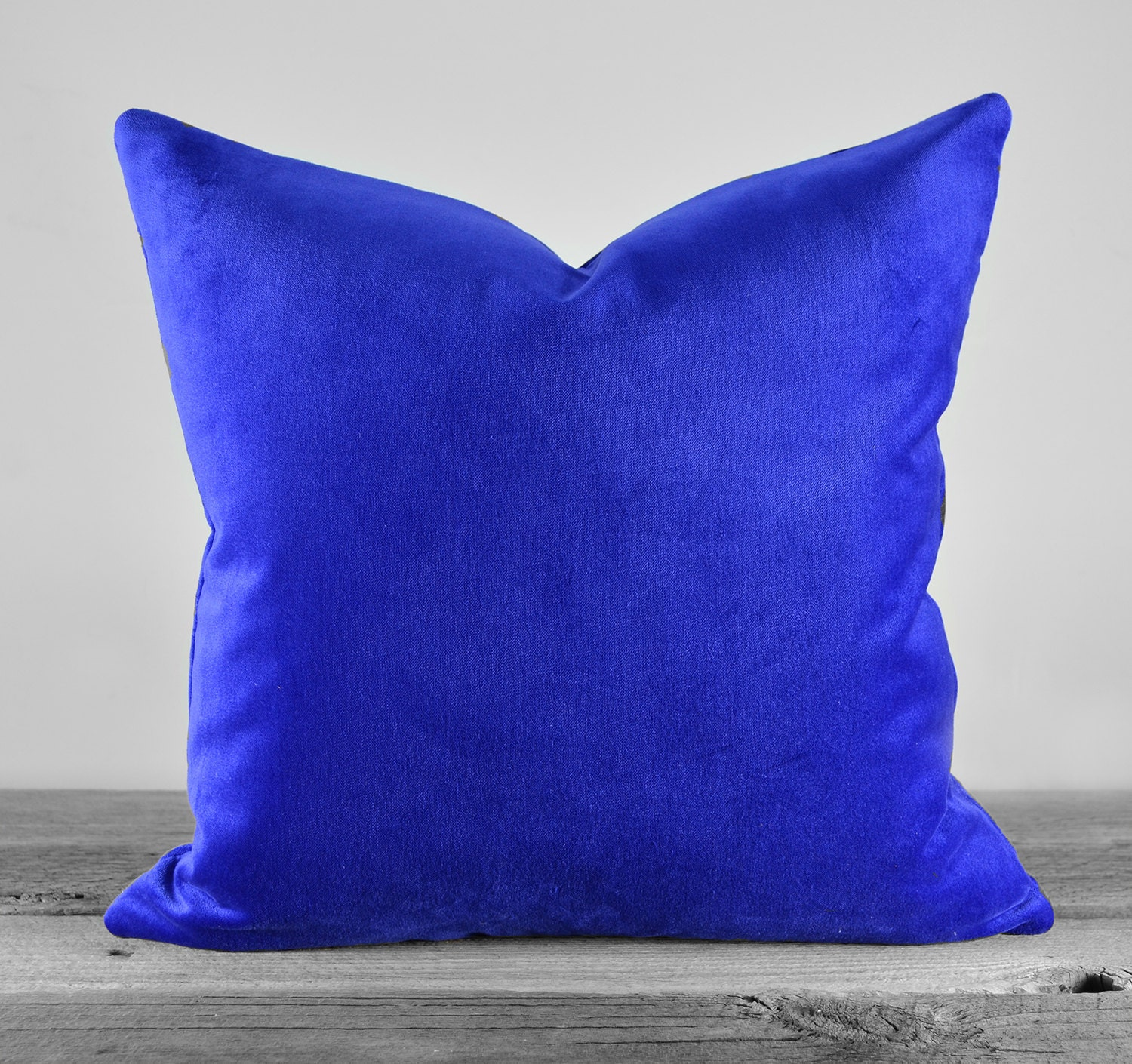 Royal Velvet Decorative Pillows : Pillow Cover Royal Blue Cotton Velvet SAME FABRIC both