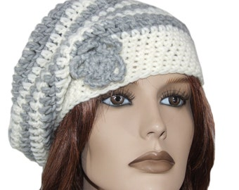 Women basque white and grey with flower