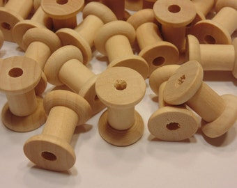 10 wood spools, 1 inch (HR22)