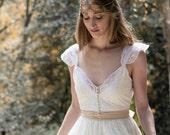 Ivory Wedding Dress, SuzannaM Designs, Bohemian Wedding Gown, Beautiful Lace Wedding, Long Gown, Boho Gown, Bridal Gypsy Wedding Dress, Anne
