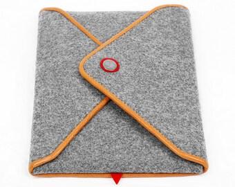 iPad Mini Case iPad Sleeve Wool Felt Tablet Case iPad Bag with Genuine Leather Edge for iPad Mini 3 2 1 Christmas Gift iPad Protector