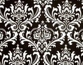 "Black Pillow Cover- Black & White  Damask -Accent Pillow Cover .16"",17"",18"",20"" 24"" 26"", Lumbar Pillow or Euro Sham"