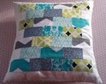 STEPPING STONES patchwork cushion cover