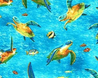 Robert Kaufman fabric SEA TURTLES