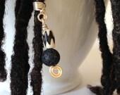 Black and White Hair Bead Tube Dread Locs Dreadlock Jewelry