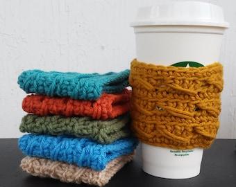 Crochet Cup Cozies - cup cozy - handmade