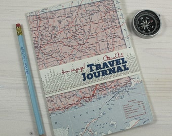 NOTEBOOK, USA, Connecticut, New Heaven, travel journal, diary, notebook, atlas, map, vintage