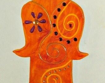 Ceramic Art, Wall Hanging, Original Hamsa