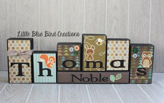 Children's personalized wood blocks - wood block set - wood letters - personalized sign - nursery decor