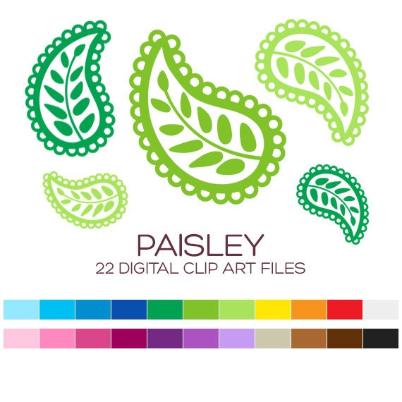 Clip Art Paisley Clip Art paisley clipart etsy for personal commercial usage 22 digital elements 3x3 inches a00021