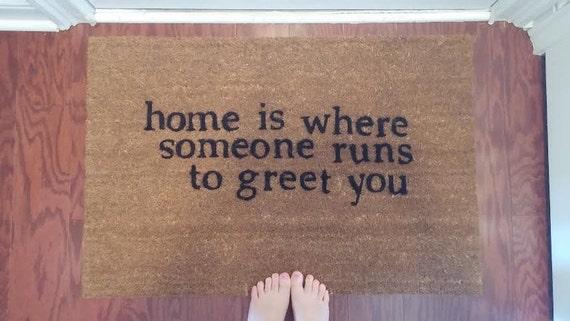 Couples Custom Made Outdoor Doormat Welcome Mat Home Is