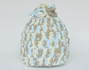 Adult To  Baby Pastel Blue Brown Cream PreTeen Boy Winter Hat Yarn Like Fleece 9 12 15 18 24 Month Toddler Girl Cap 2 3 4 5 Year Fall Beanie