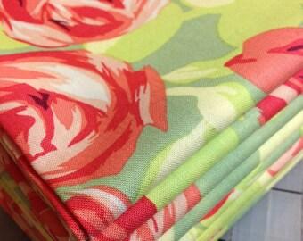 1 yard Amy Butler Love- Tumble Roses in Tangerine AB48
