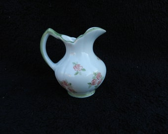 Doll House Pitcher: Hand decorated water pitcher