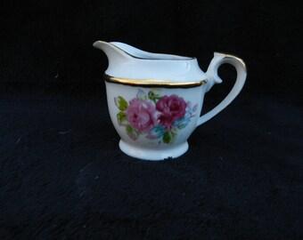 Vintage Creamer: Porcelain Hand decorated