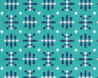 SALE--HONOR ROLL--Anna Maria Horner--Valedictorian--Misguided Gingham--Teal--price is per yard