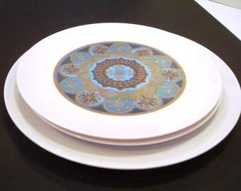 MidCentury Melmac Plates - Vintage Rare Brookpark Plates - Melmac Plates - Melamine Plates - Vintage Melmac Melmamine