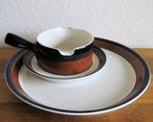 Mikasa Ben Seibel Fire Song Serving Set-Platter and Gravy Boat