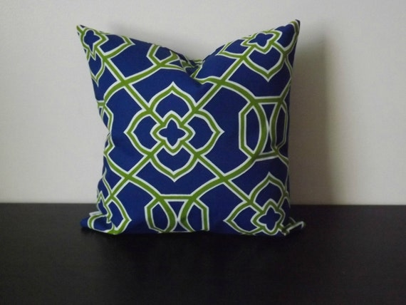 Decorative Pillows Blue Green : Decorative Throw Pillow Blue and Green Pillow Cover Sofa