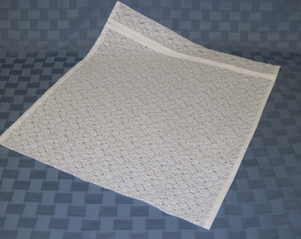 Washing Machine Bag White Lace With Zipper For Delicates Large Size