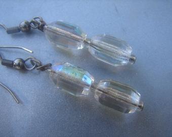 Vintage Authentic Crystal Dangle Earrings 876.