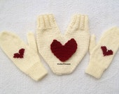 Valentines day gloves, couples gloves, lovers gloves set, for him and her, smitten, heart gloves, valentines day gift, gift for couples