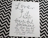 "quotation inspiration {love is the most beautiful sentiment - st. gianna beretta molla} 8x10"" art print"