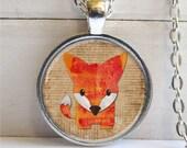 Fox Pendant, Cute Fox Necklace, Fox Jewelry