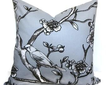 Decorative Pillow Cover, Dwell Pillow Cover, 18 inch, 20 inch, Bird Pillow Cover, Grey Pillow Cover, Feather Pillow Cover, Modern Pillow