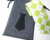 Small Groomsmen Necktie or Mustache Gift Bag - Small Mens Gift Bag - Small Mustache Bag