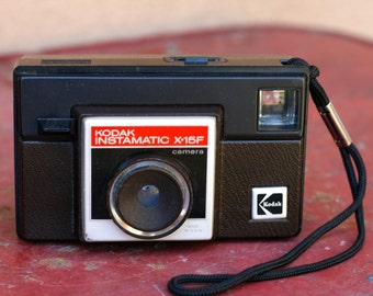 Vintage Kodak Instamatic X15F Camera from the 1980s